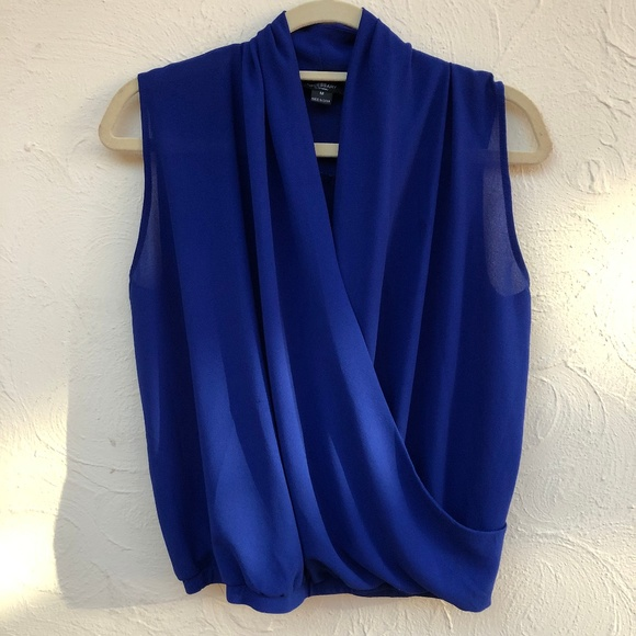 Necessary Clothing Tops - Necessary Clothing Cobalt Wrap Tank
